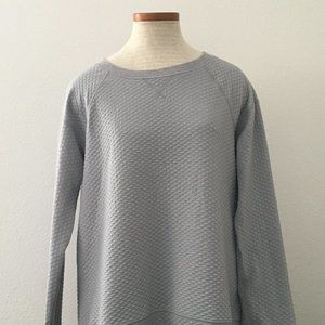Lucy Grey Embossed and Quilted Sweater